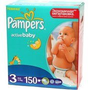 Pampers Active Baby-Dry 4-9 кг (150) фото