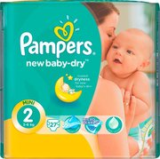 Pampers подгузники New Baby-Dry 3-6 кг (27 шт) фото