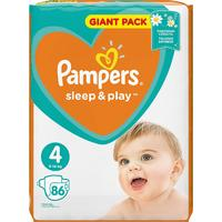 Pampers подгузники Sleep & Play 9-14 кг (86 шт)